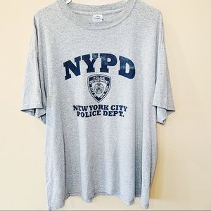 New York City Police Department tee sz xl gray